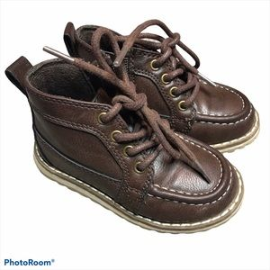 Children's Place Brown Vegan Leather Chukka Boots